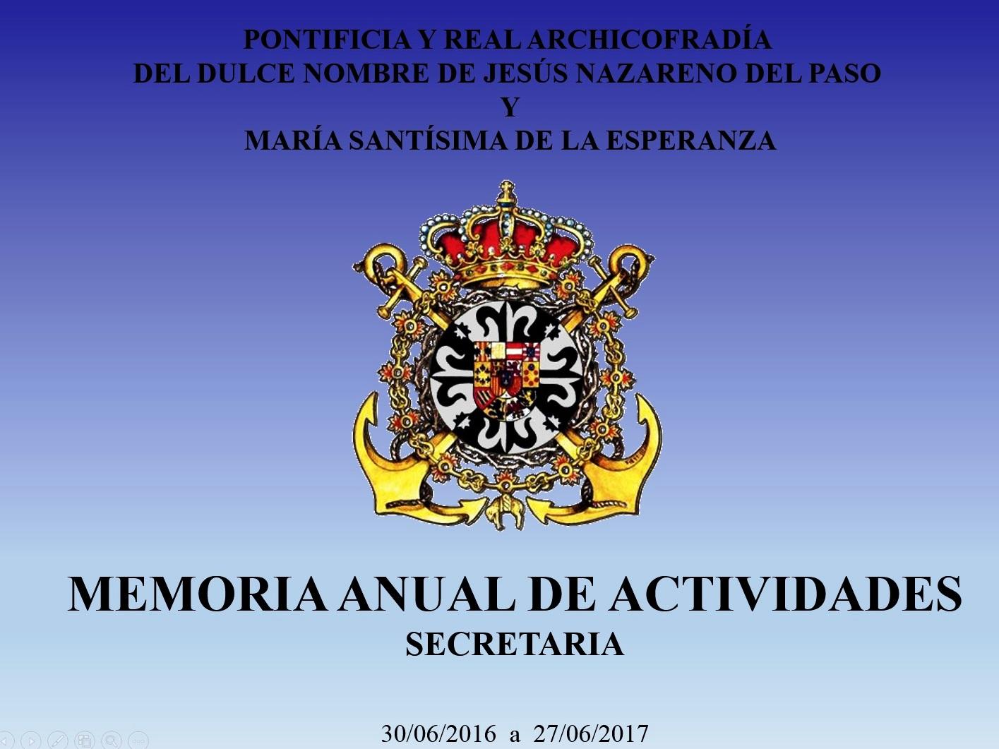 MEMORIA ANUAL DE ACTIVIDADES