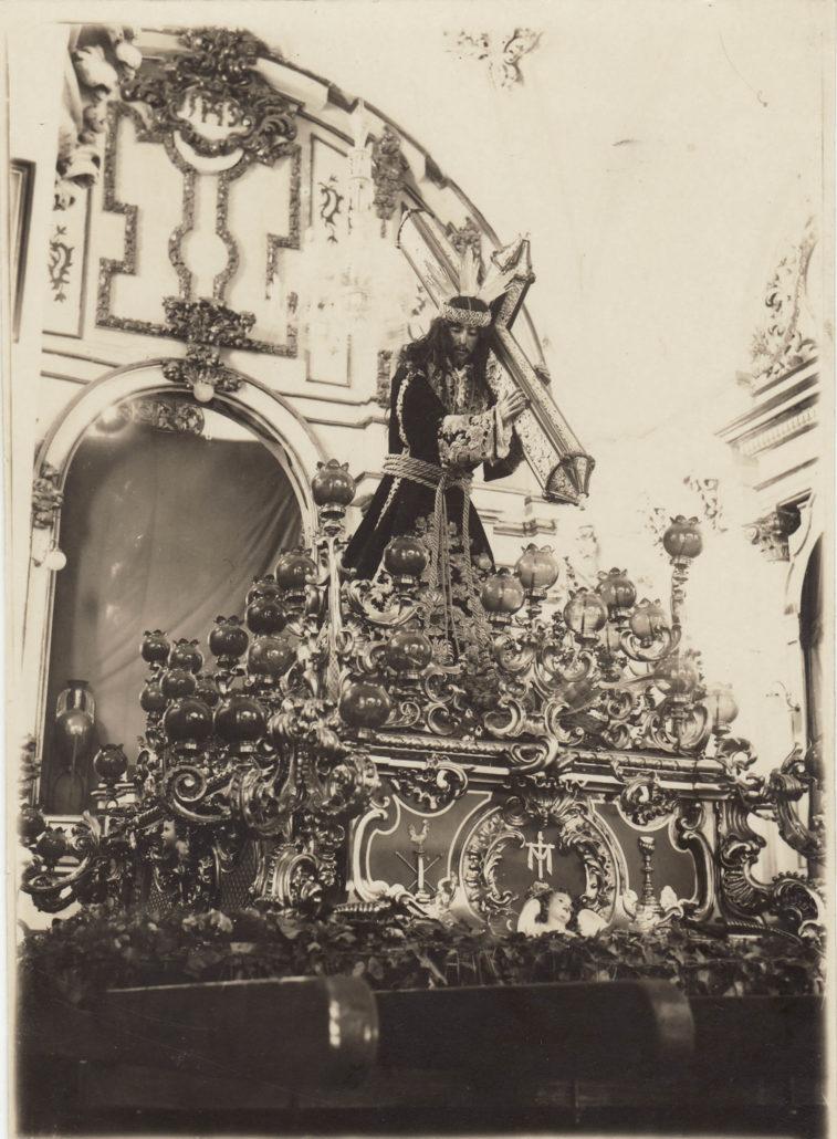 La antigua imagen del Dulce Nombre de Jesús Nazareno del Paso, en el interior de las naves dominicas