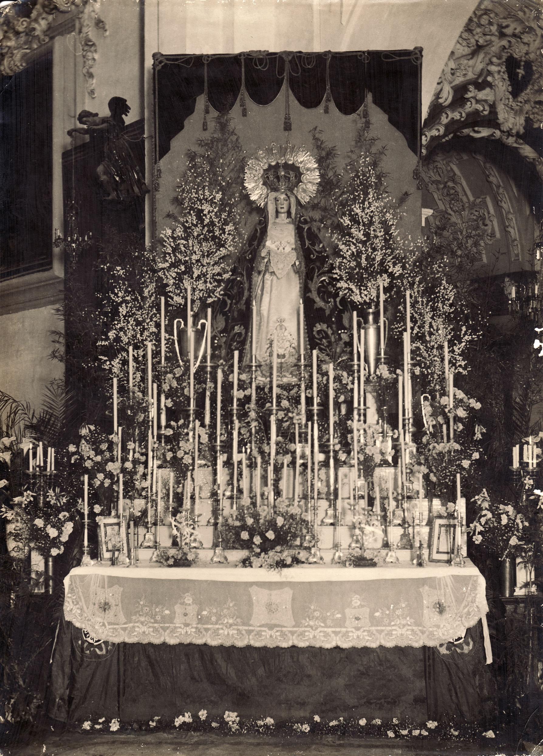 Triduo a María Santísima de la Esperanza en 1924
