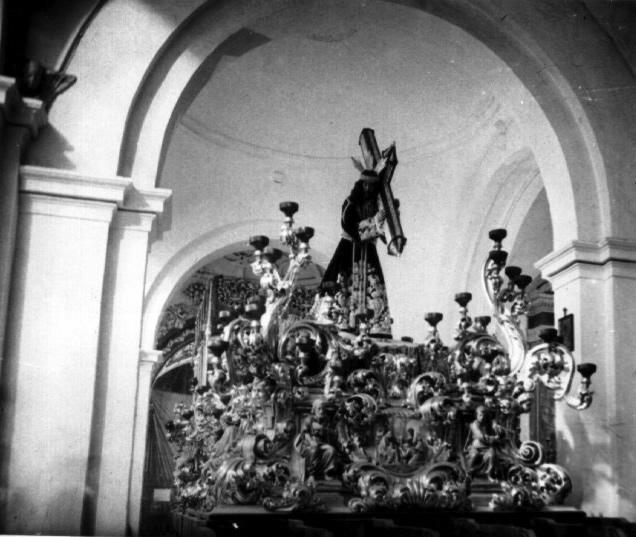 El Dulce Nombre de Jesús Nazareno del Paso, antes de su salida procesional en 1924
