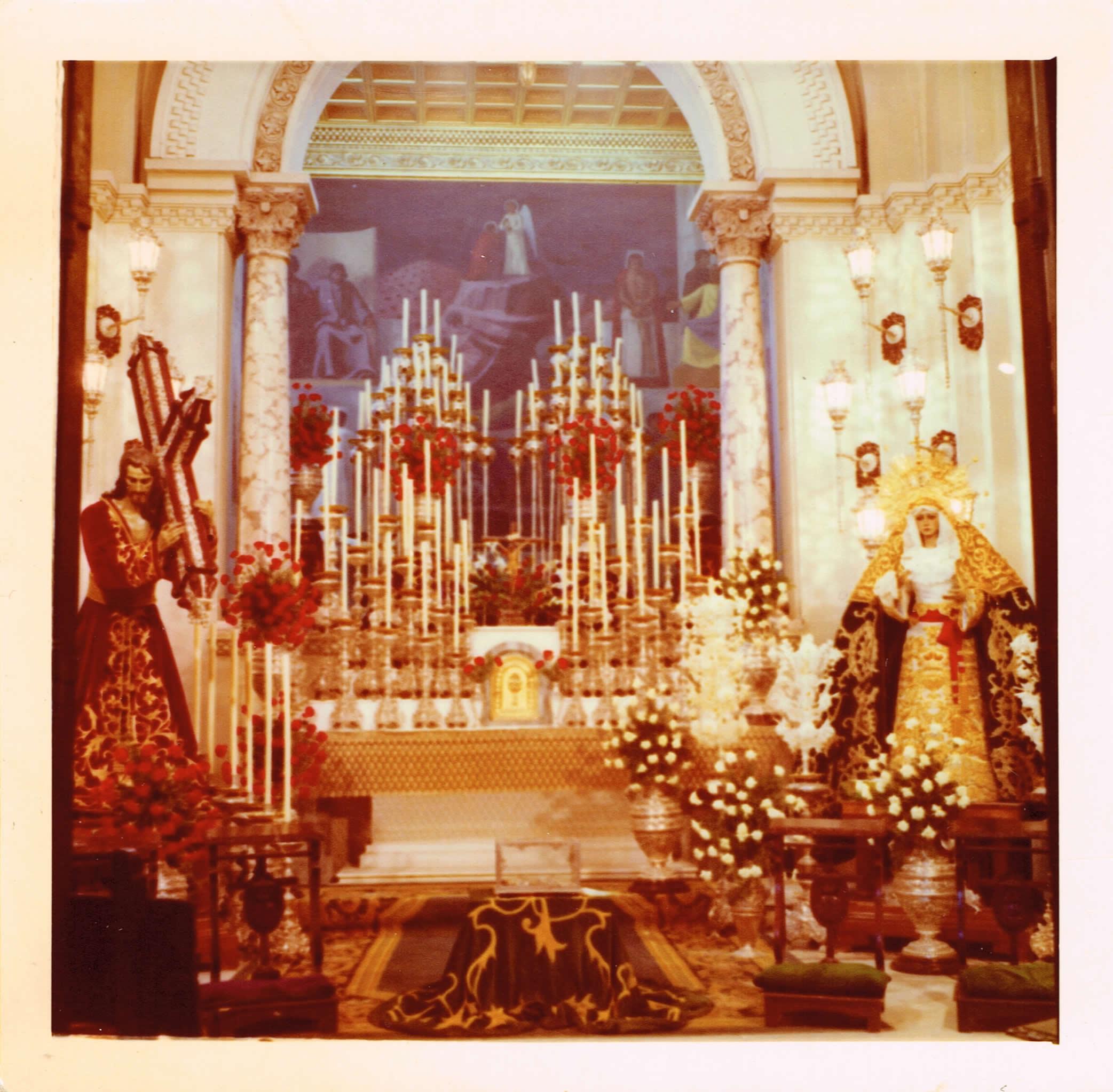 Triduo cuaresmal de la Archicofradía en Santo Domingo, 1975